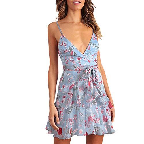 A-Linie Slim Fit Dress Camisole Minikleid Off Shoulder Schlanke Strandkleid Damen Partykleid Mit V-Ausschnitt Rüschen Slim Fit Abendkleid Sling Dress Resplend