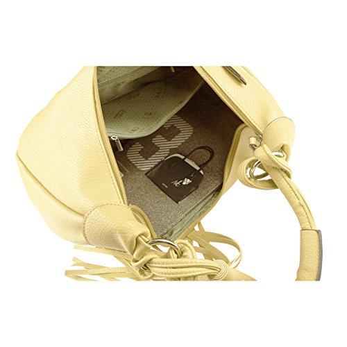 OBC Donna Borsa Shopper Borsetta Con Manici Borsa a tracolla Hobo Bag Bowling, Tasche a marsupio - beige, circa 42x26x12 cm (BxHxT) beige