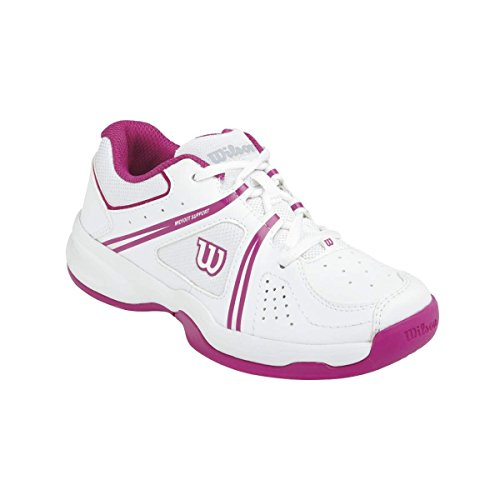 Wilson ENVY JR, Chaussures de Tennis mixte enfant Multicolore (White 001A)