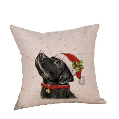 "BURFLY Kissen ♥♥18""x18"" Weihnachten Hund Leinen Kissenbezug Throw Kissenbezug Sofa Bed Home Decor (G)"