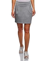 oodji Ultra Mujer Falda de Punto con Cremallera 449353000023
