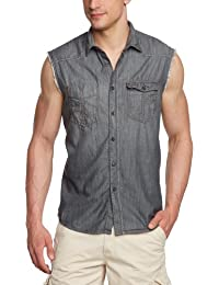 Tom Tailor Denim - Chemise Casual - Manches Courtes Homme -  gris - XX-Large