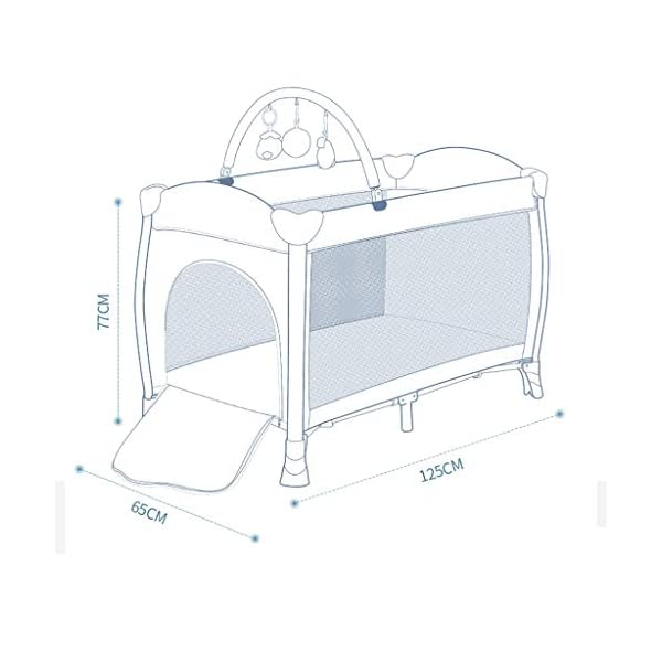 Travel Crib Cots Baby Nest Pod Bassinet Multifunctional Crib Travel Cots for Baby Sleeptight Game Bed Portable Folding with Mattress Mosquito Net 3 Colors (Color : A) OZYN Travel cots 【2-IN-1 BABY TRAVEL COT】There are two layers on this baby travel bed, the top layer is suitable for feeding and resting, and the bottom layer is ideal for crawling or learning to walk. You can use our infant cot in various kinds of places according to your different needs. 【MATERIAL】High quality oxford material, soft and comfortable, free of paint formaldehyde, wear-resistant, dirt-resistant, durable, preferably coir mattress, care for your baby's body and healthy growth 【SAFE CONSTRUCTION FOR BABY】Breathable mesh bed, protect your baby from bruising and bruising, good for air circulation, round corner bed, white plastic material, durable and rust-free, protect your baby from harm 2