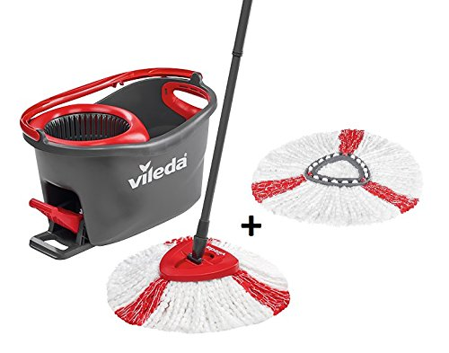 Vileda Easy Wring/Clean Turbo Set – Escoba con cubo + 2 recambios