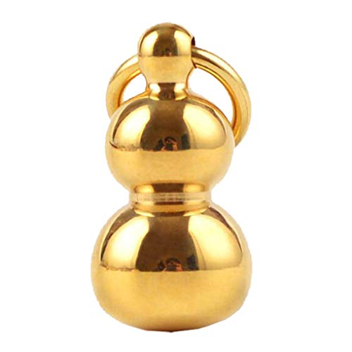 Aiming Fest Farbe Messing Gourd geprägt Schlüsselanhänger Halsketten-Anhänger Auto-Schlüssel-Ornament Craft Accessories