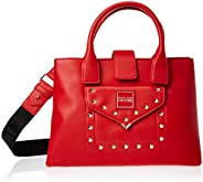 Versace Jeans Couture Satchel Bag for Women- Red