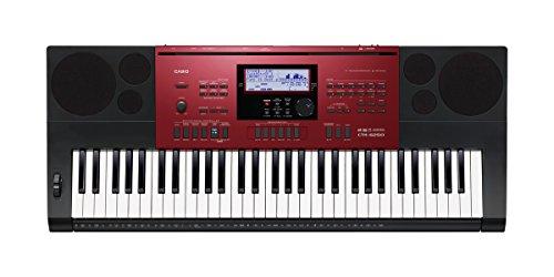 Casio-ctk-6250-Tastatur-61-Tasten-Stil-Klavier-Farbe-schwarzrot