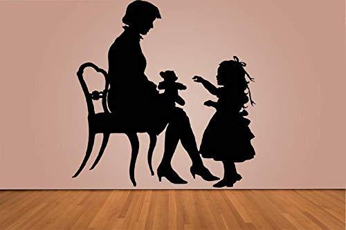 CECILIAPATER 075d Wandaufkleber für Schlafzimmer Frauen Stuhl Bär Junge Mädchen Teenager Teenager Teenager Kinder Zimmer