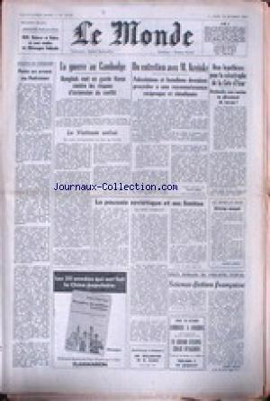 MONDE (LE) [No 10798] du 18/10/1979 - PAKISTAN - LA GUERRE AU CAMBODGE - UN ENTRETIEN AVEC M. KREISKY - LA CATASTROPHE DE LA COTE D'AZUR - AVALANCHE SOUS-MARINE OU GLISSEMENT DE TERRAIN - LA POUSSEE SOVIETIQUE ET SES LIMITES.