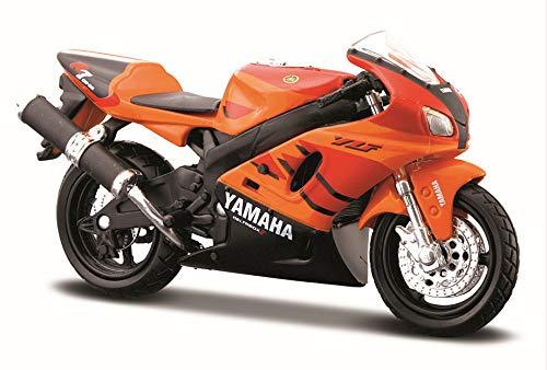 Maisto 334 - 1999 Yamaha YZF-R7, Naranja, 1:18 Die Cast