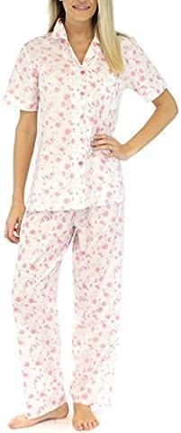 Sleepyheads Kurzarm-Pyjama für damen aus baumwolle zweiteiliger schlafanzug (STCP149SPR-LRG)