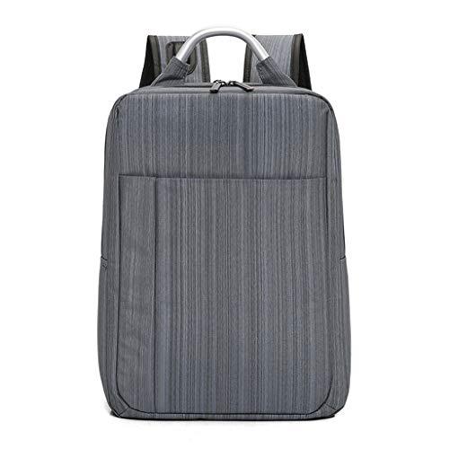 KKCD Laptop-Rucksack Männer Frauen Anti Theft Multifunktions-beiläufiger Laptop-Rucksack mit USB-Gebühr Wasserdichte Reisetasche Notebook Laptop (Farbe : Dunkelgrau)