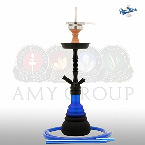 AMY Deluxe Stars 420 Shisha Wasserpfeife (Mattschwarz-Blau)
