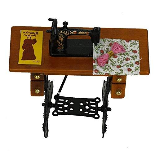 XSM Machine à Coudre Mini Machine à Coudre Machine à Coudre Vintage Machine à Coudre Miniature Décoration de poupée Décoration pour Maison de poupée à l'échelle 1: 12/1: 6