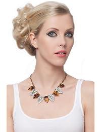 SEXYHER Concise Personality Shiny Floral Leopard Druck Tropfen Tschechische Diamant Halskette SHWM130909N018