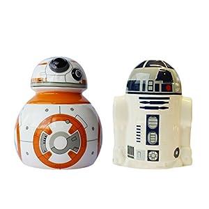 STAR WARS 21826 - BB-8 und R2-D2 Set: Slaz- und Pfefferstreuer in Keramik in Geschenkverpackung, 8 x 8 x 10 cm