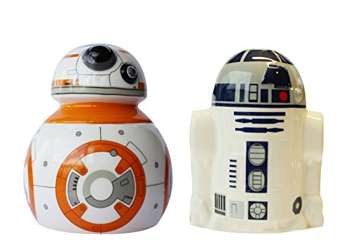 -8 und R2-D2 Set: Slaz- und Pfefferstreuer in Keramik in Geschenkverpackung, 8 x 8 x 10 cm (Star Wars Geschenke)