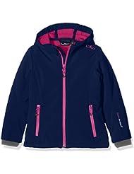 CMP - Chaqueta juvenil (tejido Softshell), otoño/invierno, niña, color Nautico-Hot Pink, tamaño 15 años (164 cm)