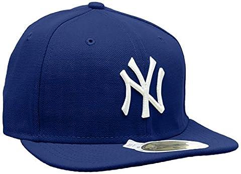 New Era Erwachsene Baseball Cap Mütze Kids Mlb Basic NY Yankees 59Fifty Fitted, Royal/White, 658, 10879078