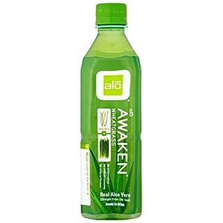 Alo Awaken Aloe Vera and Wheatgrass 500 ml (Pack of 12)