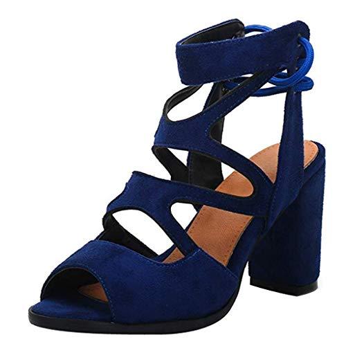 Damen Pumps Bequeme Riemchen High Heels Vintage-Style Abendschuh Trendy Women's Extreme High Fashion Peep Toe Pumps Handmade for Wedding Party Dress Stiletto Slip On Shoes,Blau (Vintage-style-schuhe Womens)