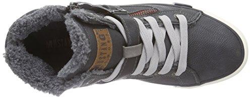 Mustang Unisex-Kinder Hohe Sneakers Grau (259 graphit)