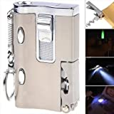 #2: Delhitraderss -Windproof Green Jet Flame 5 in 1 Steel Cigarette Lighter with Torch Keyring