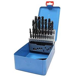CraftPro By Presto 09591M25 Cobalt HSS Bohrersatz 1,0 mm – 13,0 mm Schnittdurchmesser x 0,5 mm