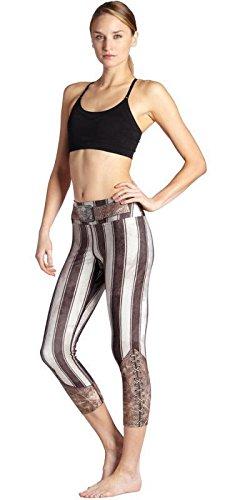 Weibliche gestreifte Ritter Kostüm schlank Yogahosen schweißabsorbierend atmungsaktiv Fitness Laufhose geerntete Hose , (Joker Kostüme Weibliche)