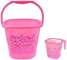 Nayasa Funk 25 Ltr Bucket & Matching Mug - Pink