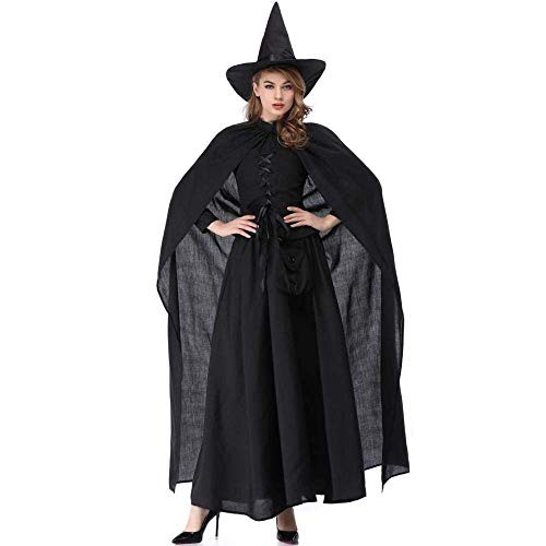 Fashion-Cos1 Halloween Plus Size mittelalterlichen Mantel Königin Hexe Vampir GRAF Kleid, Renaissance Prinzessin Kostüm Cosplay für Frauen (Size : L)