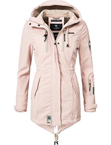 Marikoo Mountain Damen Softshell-Jacke Outdoorjacke Zimtzicke Rosa Gr. XL
