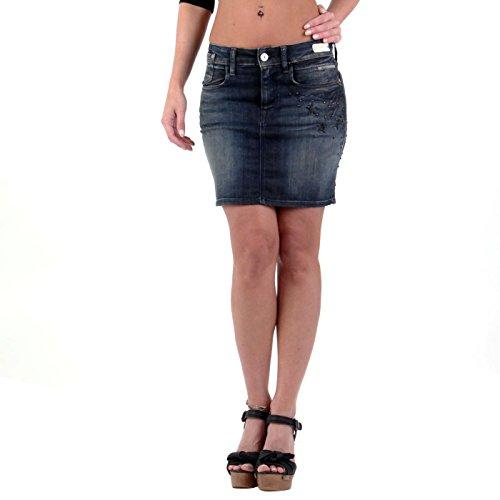 REPLAY Damen Jeans Rock Gonna Blue W9715 Größe 26