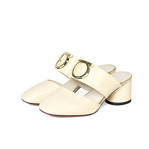Sandali da moda estivi/Donne con le pantofole mezze in spessa e baotou E