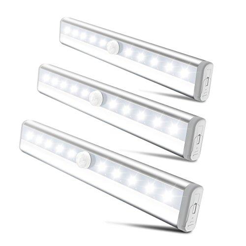 Victsing Luz Sensor Movimiento Lámpara LED 10 Leds Detección hasta 3M y...