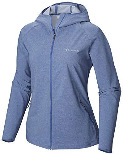 Columbia Softshell Jacke für Damen, HEATHER CANYON SOFTSHELL JACKET, Polyester, Blau (Blue Dusk Heather), Gr. M, 1717991 (Scuba Kapuzen-weste)