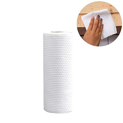 Einweg-arbeitsplatte (Biback Einweg-Rack (1 Rolle mit 50 Stück) langlebig und weich, für die Küche, Einweg-Reinigung, Antihaft-Wischtuch, Reinigungstücher)