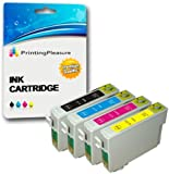 Printing Pleasure Set of 4 Compatible T0711-T0714 (T0715) Ink Cartridges for Epson Stylus Printers