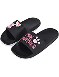 7c5d98f4c89fe0 Irsoe Pink Panther Women s and Girls Latest Slide Flip Flop Slippers (Black)