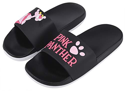 c6b7a82be08a Irsoe Pink Panther Women s and Girls Latest Slide Flip Flop Slippers Black