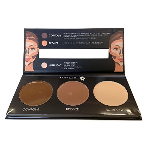 Covershoot Cream Foundation Contouring Palette - Contour, Bronze & Highlight Kit