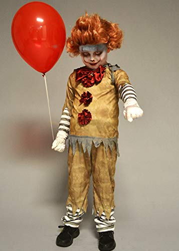 (Magic Box Int. Kinder New Pennywise Es Clown Stil Kostüm mit Perücke Large (10-12 Years))
