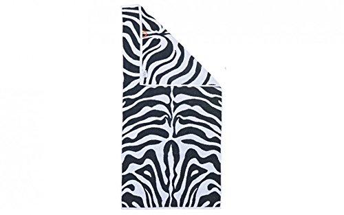 Baidani Zebra 50x100cm-2 Stück Handtuch, Baumwolle, Mehrfarbig, 100 x 50 cm, 2-Einheiten (Safari Waschlappen)