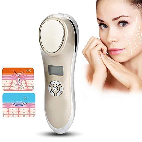 Appareil de Massage Facial Ultrasonique Traitement de Chaud-froid Ionique Appareil de Beauté avec Micro-courant Anti-ride Soins de la Peau