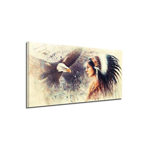 Bolange pittura a getto d'inchiostro del modello del nativo americano, decorazione della parete della pittura murale della stampa di 20x40cm