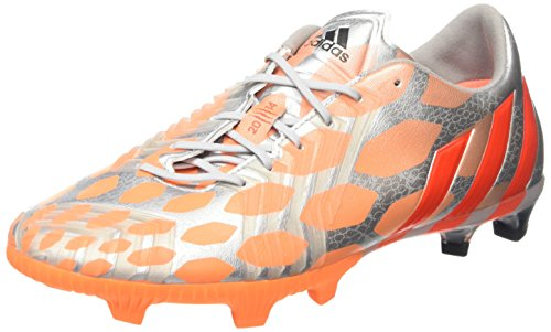 Adidas Predator Instinct Fg, Chaussures De Football Féminine (argent Métallique / Infrarouge / Glow Orange S14)