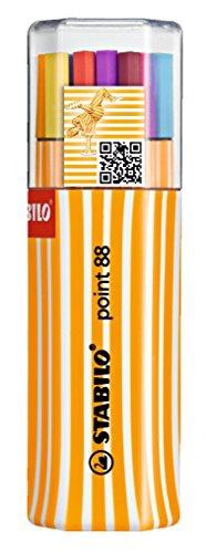 Stabilo point 88 fineliner colori assortiti - twin-pack da 20