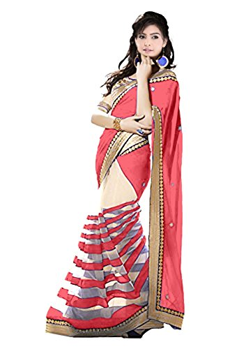 Sarees For Women Party Wear Offer Designer Sarees Silk ( Vibes Women`s Georgette Saree