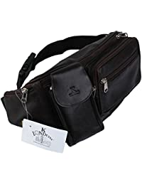 8b2c01bd6119 K London Stylish Real Leather Brown Waist Bag Elegant Style Travel Pouch  Passport Holder with Adjustable