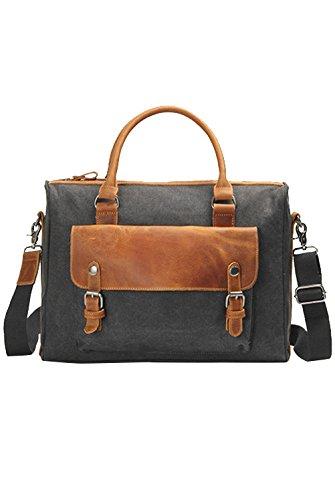 Menschwear Vintage Canvas Messenger Bags Casual Spalla Dell'imbracatura Pacchetto Daypack Verde Nero Grigio